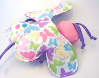 Unique Soft Baby Toy - Sparkle Butterfly with Crinkle Wings ZadyBug