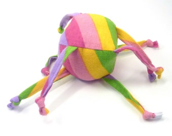 Soft Baby Toy - ZadyMini - Diagonal Rainbow - Pink, purple, yellow, green