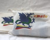 Personalized Fire Breathing Dragon Favor Bags Halloween Goody Bags