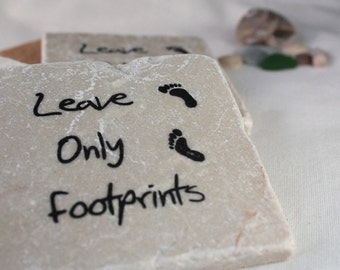 Leave Only Footprints Coasters