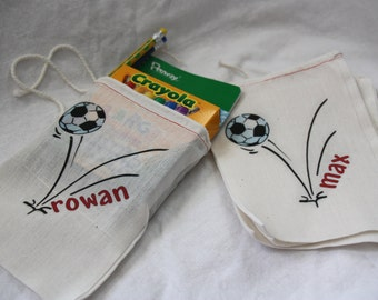 Personalized Soccer Birthday Party Favor Bags for Boys