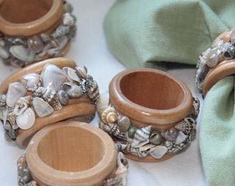 Seashell Napkin Rings- Oak