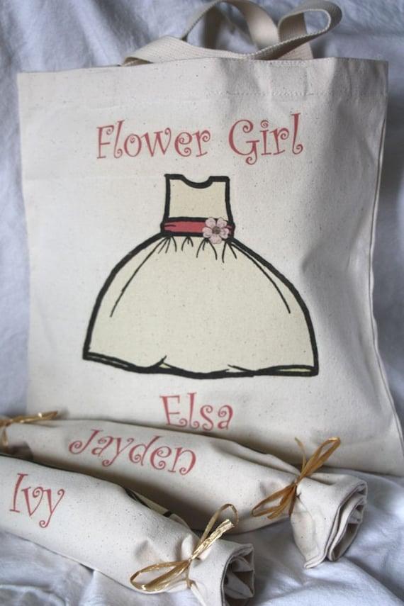 Flower Girl Tote Bags- Curlz