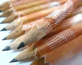 mini japanese paper-wrapped pencils - set of 10 - copper autumn