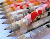 S A L E mini pencils wrapped in chiyogami - set of 10 - rain or shine