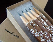 pencils made with japanese paper - set of 5 - forest floor (brown)