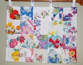 Vintage Tablecloth Quilted Wall Hanging