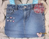 SALE--65% OFF  Recycled Blue Jean Bag