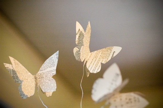 Butterfly on a Wire Perching Decorations