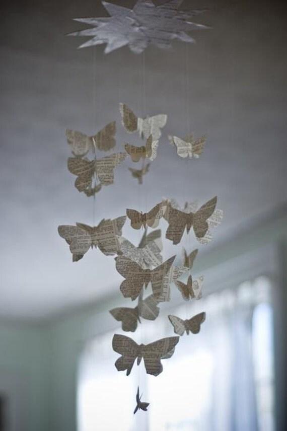 Wordy Butterfly Mobile