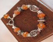 Gotta Get Rid of Some Stock Sale - Carnelian and Bali Silver Bracelet