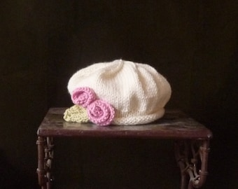 Infant Rosette Beret Baby Newborn Photo Prop Easter