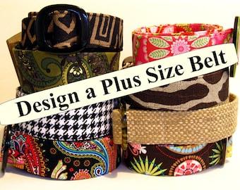 Plus size Belt / Women's Large Belt / Long Fabric Belt / Custom Slide Belt / XL Belt