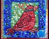 Trio of Cardinals Mosaic Wall Art