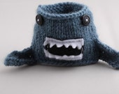 Coffee Cup Sleeve - Monster Shark in Dusty Blue