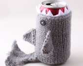 Shark Week - Fathers Day - Monster Shark - for your Soda Can - Silver Grey - was featured in ImbibeMagazine.com