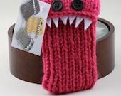 Monster iPhone/iPod cozy - Raspberry