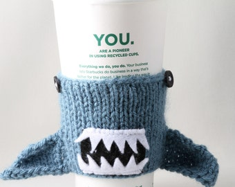 Shark Week, Geeky, Gift for Teacher, Gift for Student, Friends, Gift for Boyfriend, Beer Cozy, Sport Drink, Knitted, wrist band, reusable