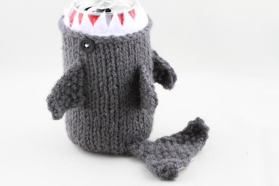 Monster Shark - for your Soda Can -Charcoal Grey