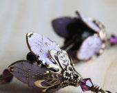 Bridesmaid Gift, Bridesmaid Jewelry, Flower Earrings, Dangle, Purple Lilac Earrings, Bridesmaid Jewelry, Bridal Party Gift, Bridesmaid Gifts