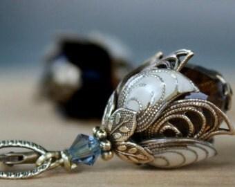 Flower Earrings, Dangle, Mother's Day, Gift for Her, Gift Ideas, Gift For Girlfriend, Romantic, Bead
