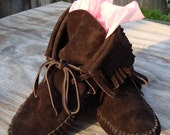Hand Made Inca Boot Moccasins in Suede - Women's US 5-11 w\/ OUTSOLE - Pick Your Color