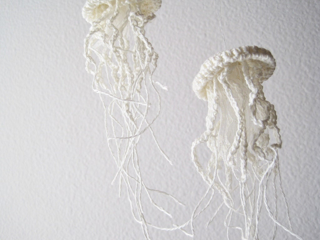 Diy Jellyfish Decorations Wedding Holiday Decor Twelve Elegant Jellyfish Amigurumi