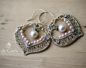 Wire Jewelry Tutorial - Bridal SilverLace Earrings, Wired Chinese Knot, DCH019, The Love Knot