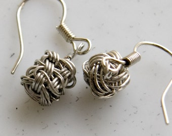 Wire Jewelry Tutorial - CUBIC Earrings, Wired Chinese Knot Jewelry Tutorial, DCH007, The Love Knot