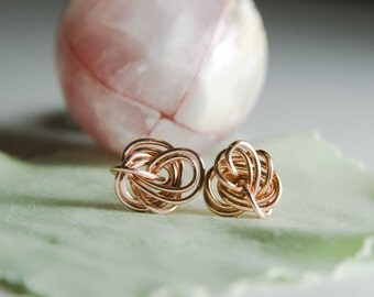 Wire Jewelry Tutorial - Passiflora Studs, Wired Chinese Knot Wire, DCH006, The Love Knot