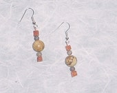 Desert Jasper Earrings with Red Aventurine and Botswana Agate - Nat