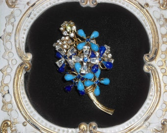 Vintage Costume Jewelry  Signed SCASSI Brooch Drop Dead Gorgeous Statement Pin