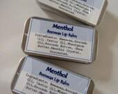 Crystal Menthol Lip Balm Mint Lip Balm in a cute little tin