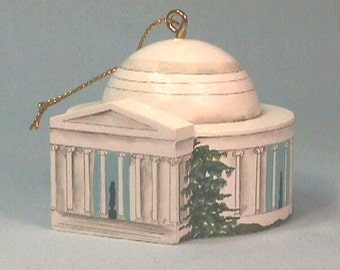Jefferson Memorial, Washington, DC, Ornament Painted by Hand on wood in USA