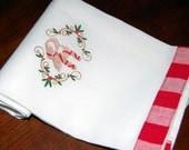 Straw Goat Dish Towel