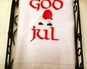 God Jul Tomte Finger Towel