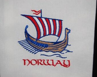 Viking Ship Dish Towel READY TO SHIP