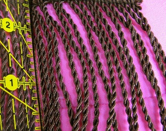 24 yds 3 inch brown bullion upholstery fringe-1 bolt