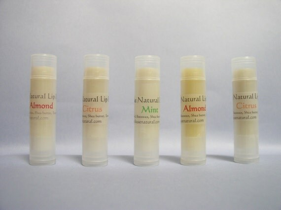 Natural Lip Balm- choice of Almond, Mint, Citrus or Unscented