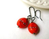 Res for Pat - Crimson Red and Sterling Silver Earrings - Crimson Tide