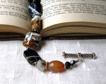 Animal Print Boho Beaded Bracelet,  Safari Luxe Boutique Wearable Art, Tribal, for Her Under 275