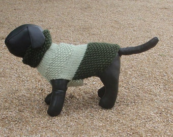 Two Greens Knitted Chihuahua Sweater