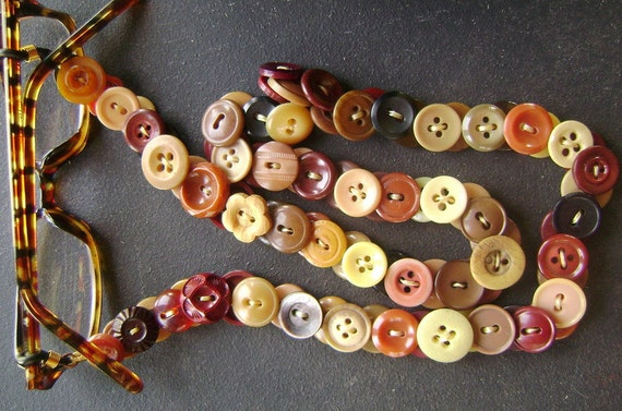 Eyeglass Leash in Vintage Buttons