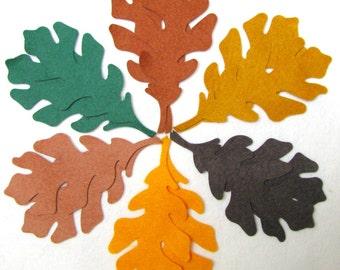 Diecut, OAK  LEAVES, Leaf,  DIY,  Wool felt blend, appliques, assorted colours,  precision die cut