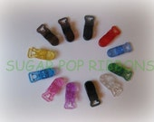 Set of 24 Pacifier Clips Badge Clippies for your blinkie binky
