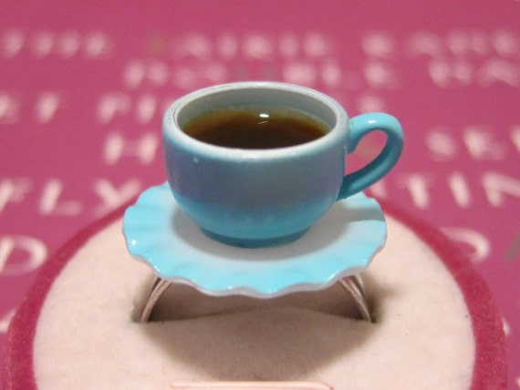 Blue Tea / Coffee Cup Ring