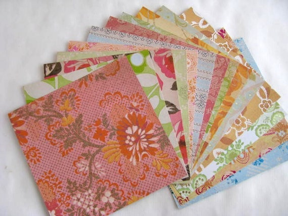 Paper Pack, K and Company, Garnish Specialty Paper, 14-6x6 double sided sheets, scrapbooking, card making, paper crafts
