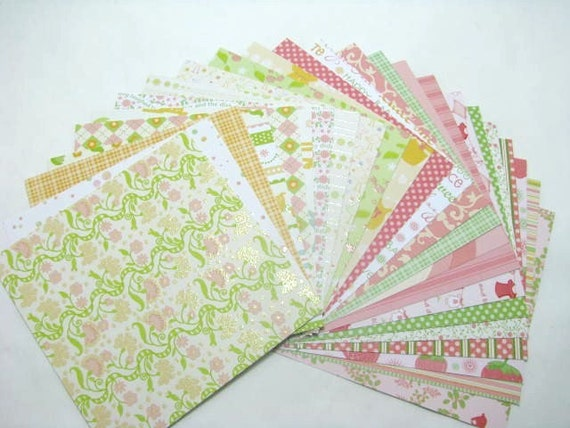 DCWV Nana's Nursery Baby Girl, 24-6x6 Cardstock Sheets some with glitter, scrapbooking, card making and paper crafts