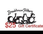 Twenty-Five Dollar Gift Certificate