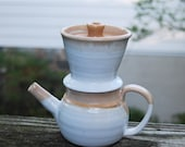 SALE: REDUCED TO ...... 1 White and gold teapot/coffee pot with lavendar highlights...13Br